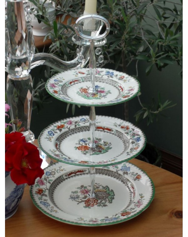 (OUT OF STOCK) SPODE CHINESE ROSE Vintage cake sta...